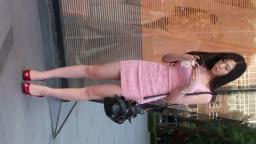 MAH09961 齐B包臀粉裙跟拍